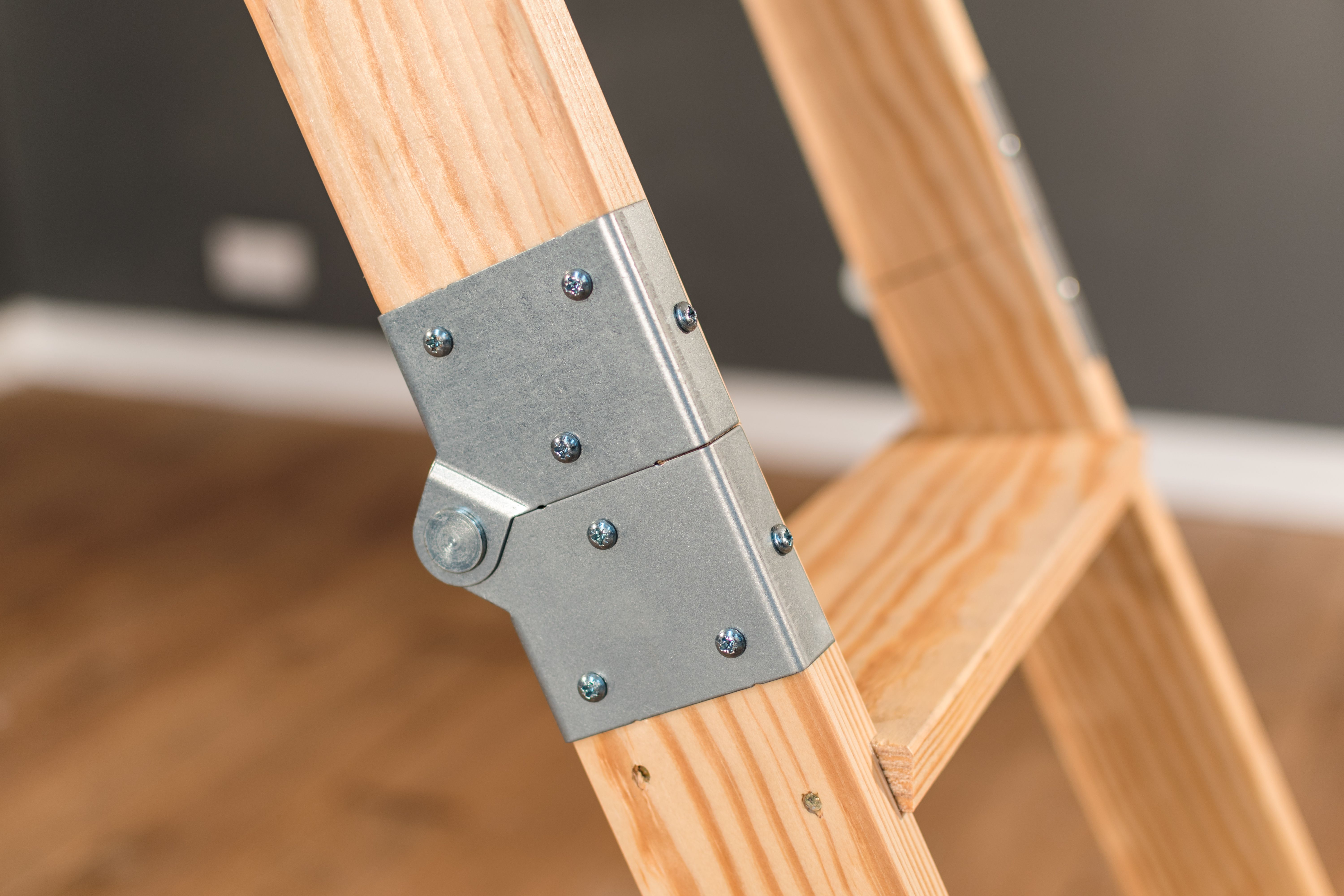 The Stira Wraparound Hinge Protects The First Fold Of The Stira Ladder Attic Stairs Loft Ladder Folding Attic Stairs