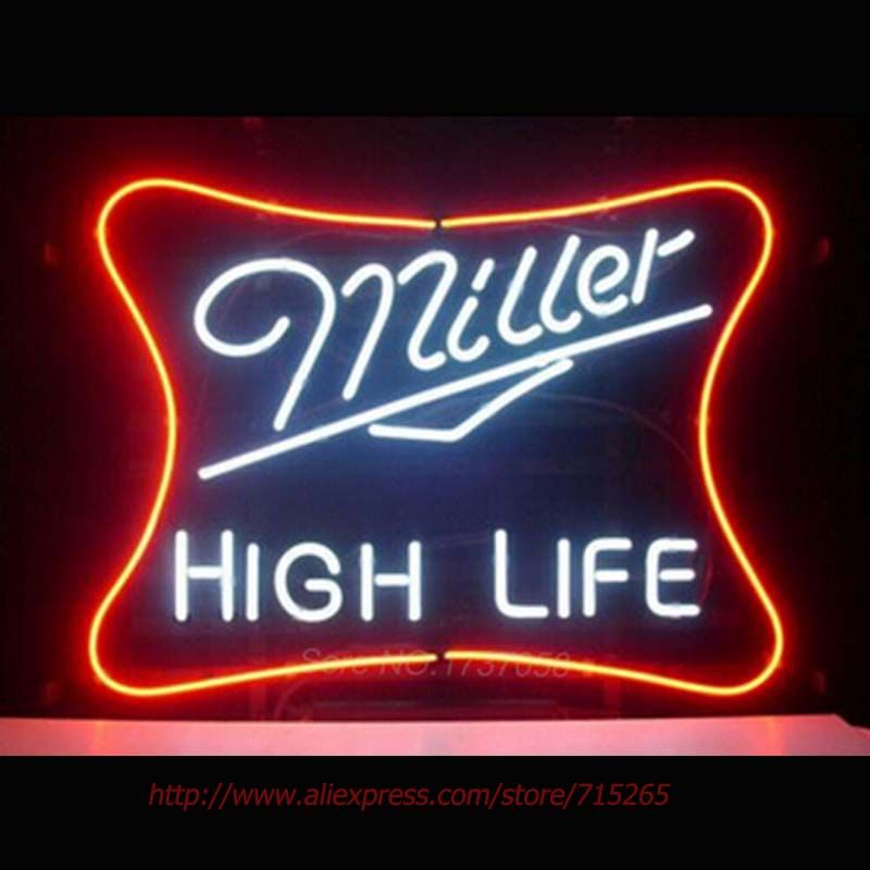 Miller high life bar beer pub store display garage new neon light miller high life bar beer pub store display garage new neon light sign 1714 aloadofball Choice Image