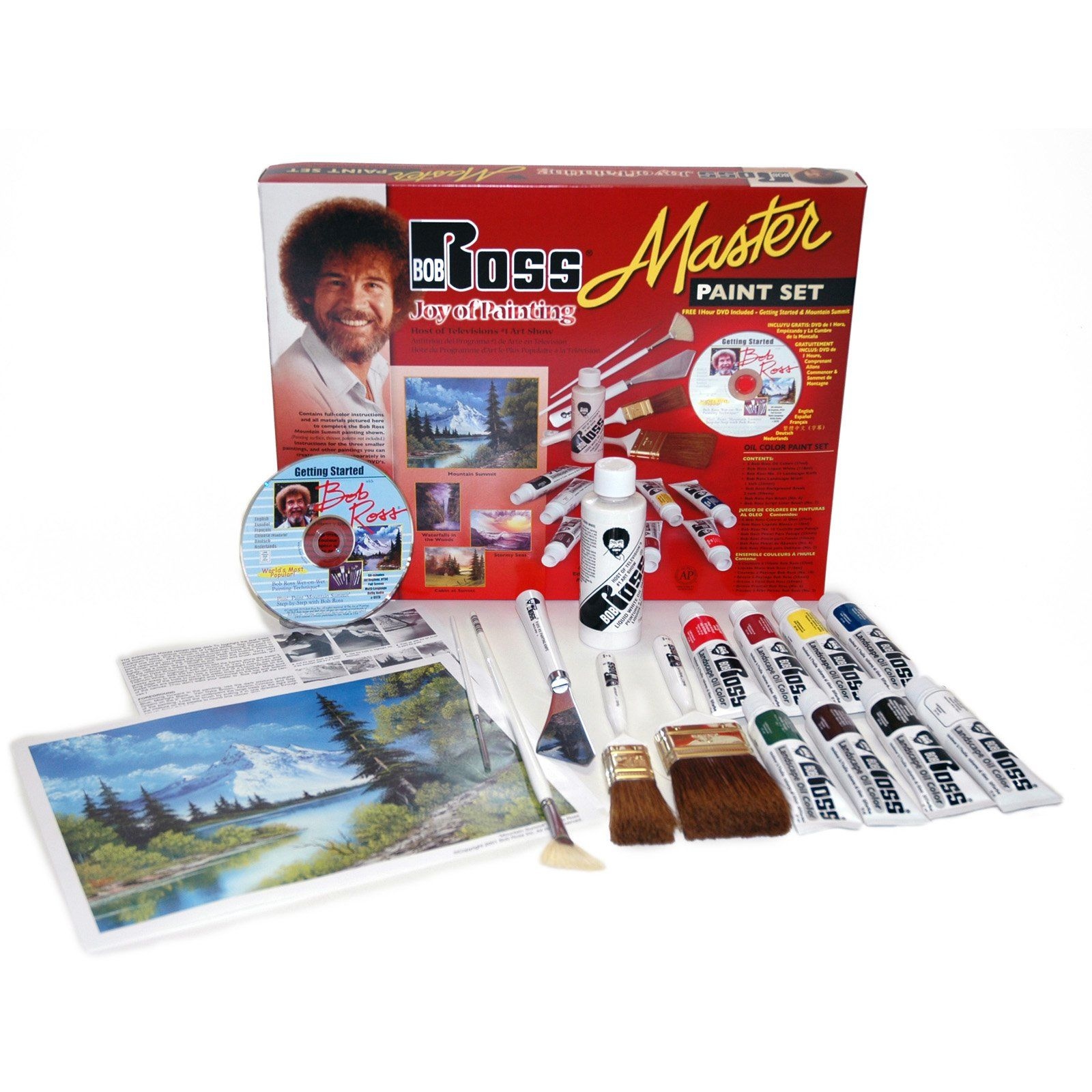 Bob Ross Master Paint Set with 1 Hour Dvd - Set contains ...
