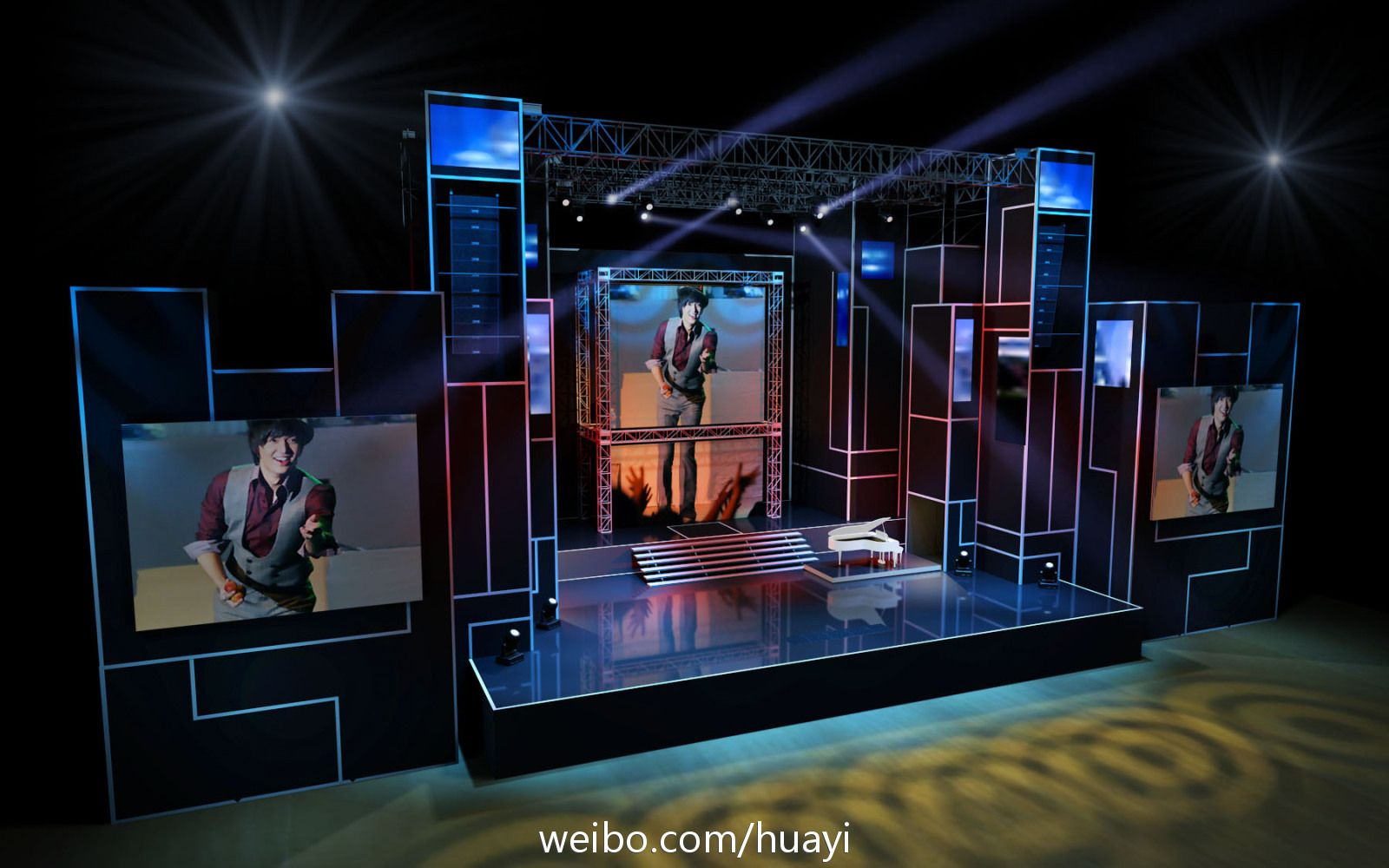 info stage design of lee min hos fanmeeting in china - Concert Stage Design Ideas