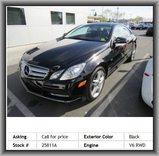 2012 Mercedes-Benz E-Class E350 Coupe 4 Wheel Disc Brakes