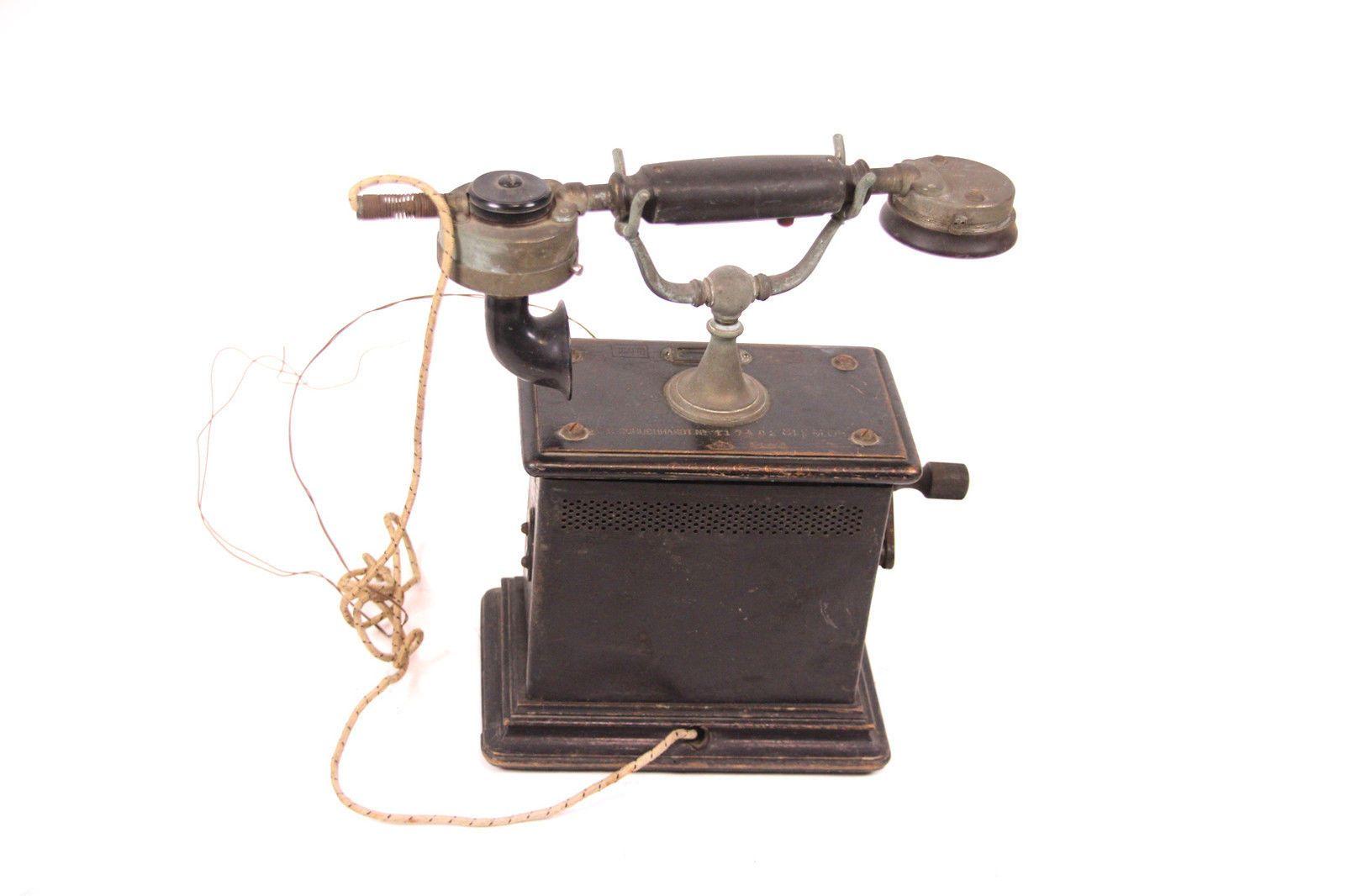 Altes Kurbeltelefon F Schuchhardt 117402 Stf M 05 Kurbel Telefon