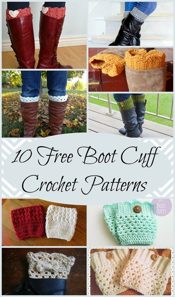 10 Free Crochet Boot Cuff Patterns Cowls Cuffs Pinterest