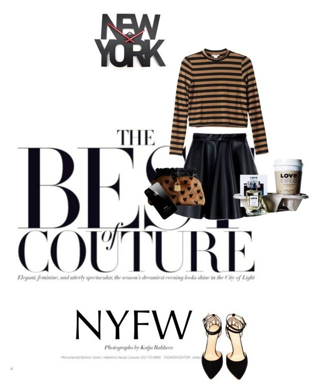 """""""The best of couture: NYFW"""" by natyleygam ❤ liked on Polyvore featuring Monki, MSGM, Burberry and Charlotte Olympia"""