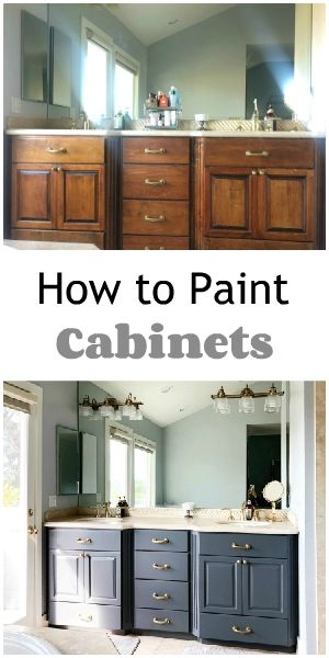 How to Paint a Bathroom Vanity   Painting cabinets ...