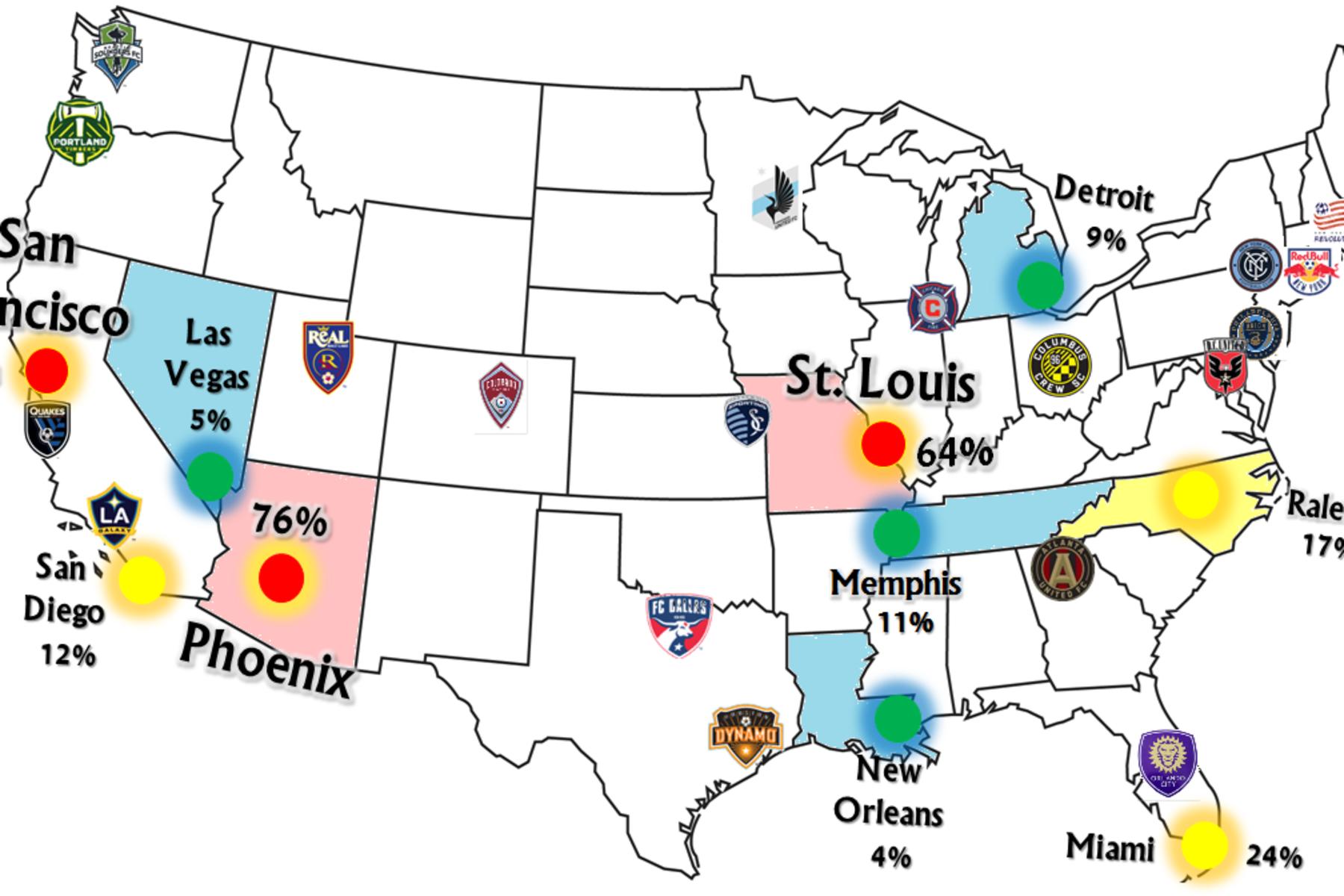 MLS Teams on the Map @MLS #9ine #FollowLiveShare