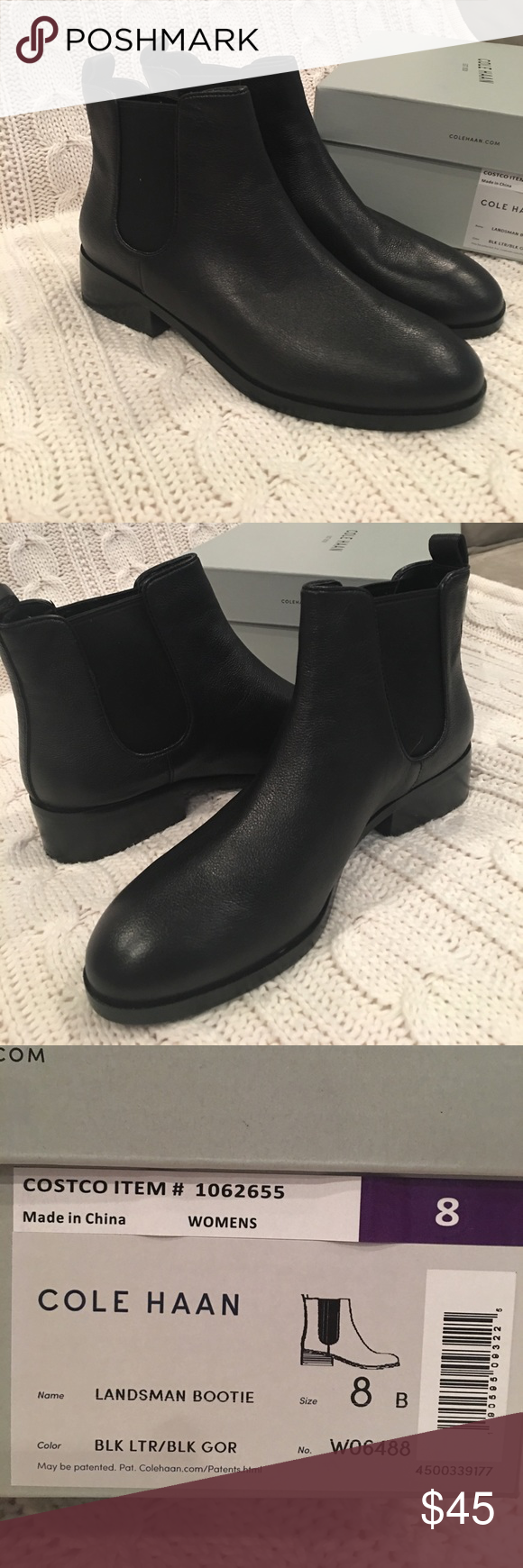 Bought Cole Haan booties from Costco, never worn. I have