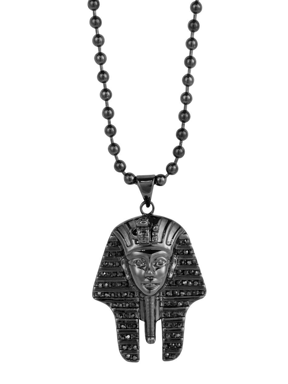 EGYPTIAN BOY KING TUTANKHAMUN Pendant Hung on 925 Sterling Silver Necklace Chain