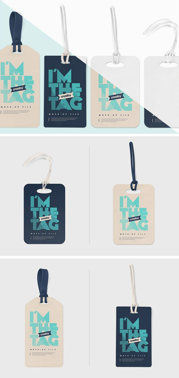 Free Luggage Tag Mockup Download Psd Template веб дизайн