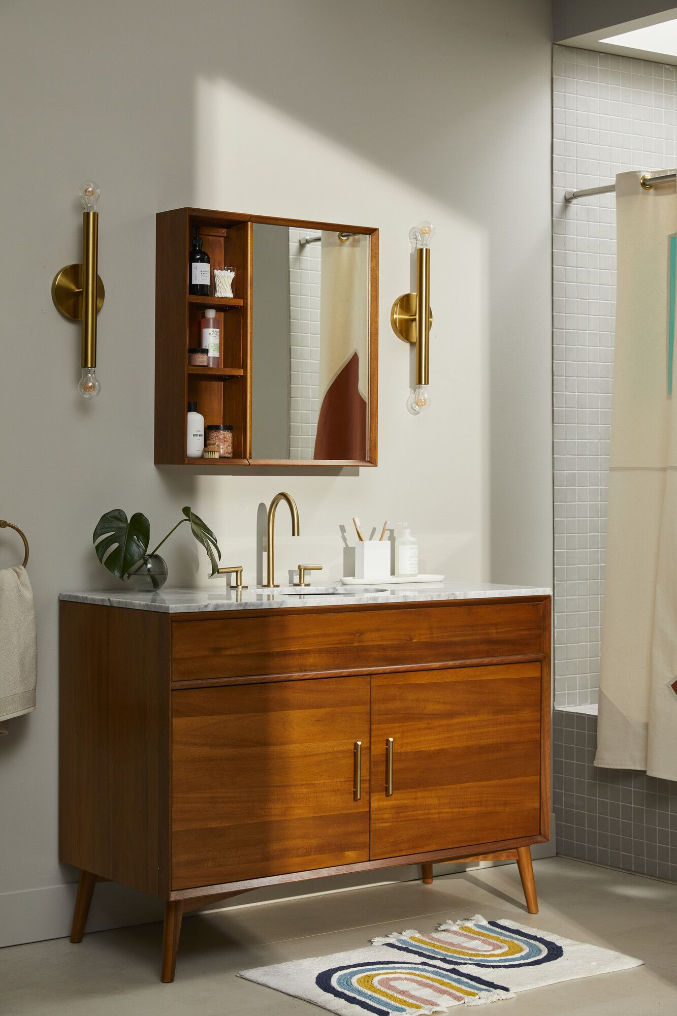 Modern Design That S Safe For Your Kids Modern Bathroom Vanity Mid Century Bathroom Vanity Bathroom Furniture Storage [ 2000 x 1333 Pixel ]