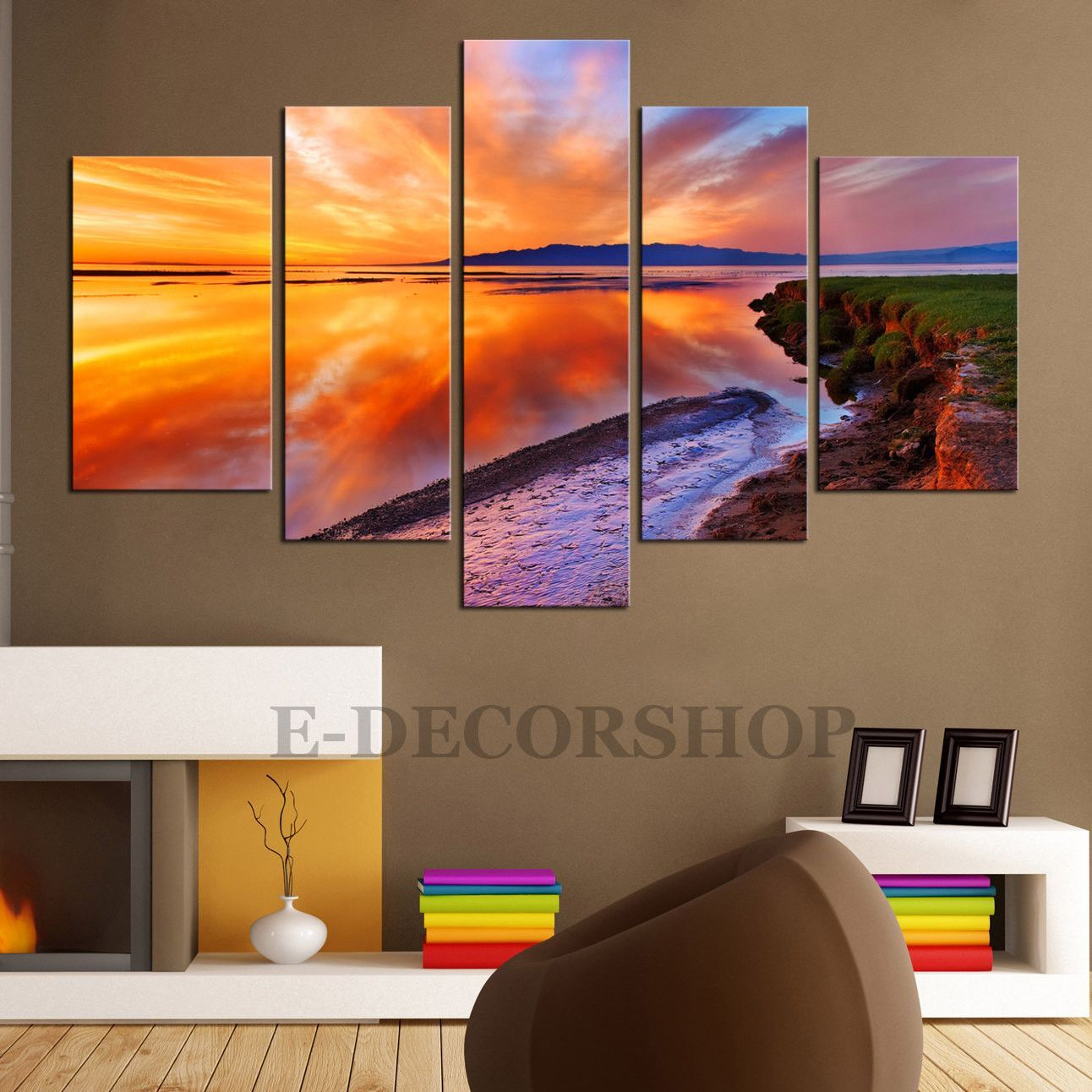LARGE CANVAS Wall Art Sunset 5 Piece Canvas Art Print