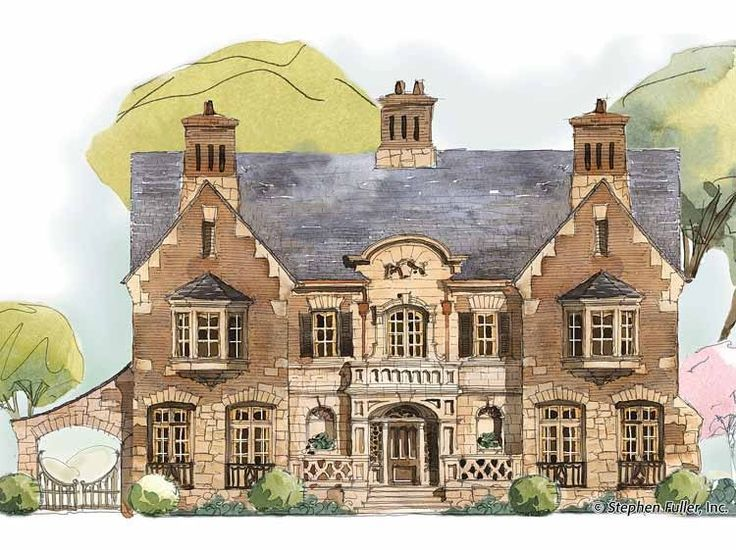 eplans house plan this english county style home is marked by a picturesque elevation consisting of a stone and brick mix organized around a wide central - Brick English Home Plans