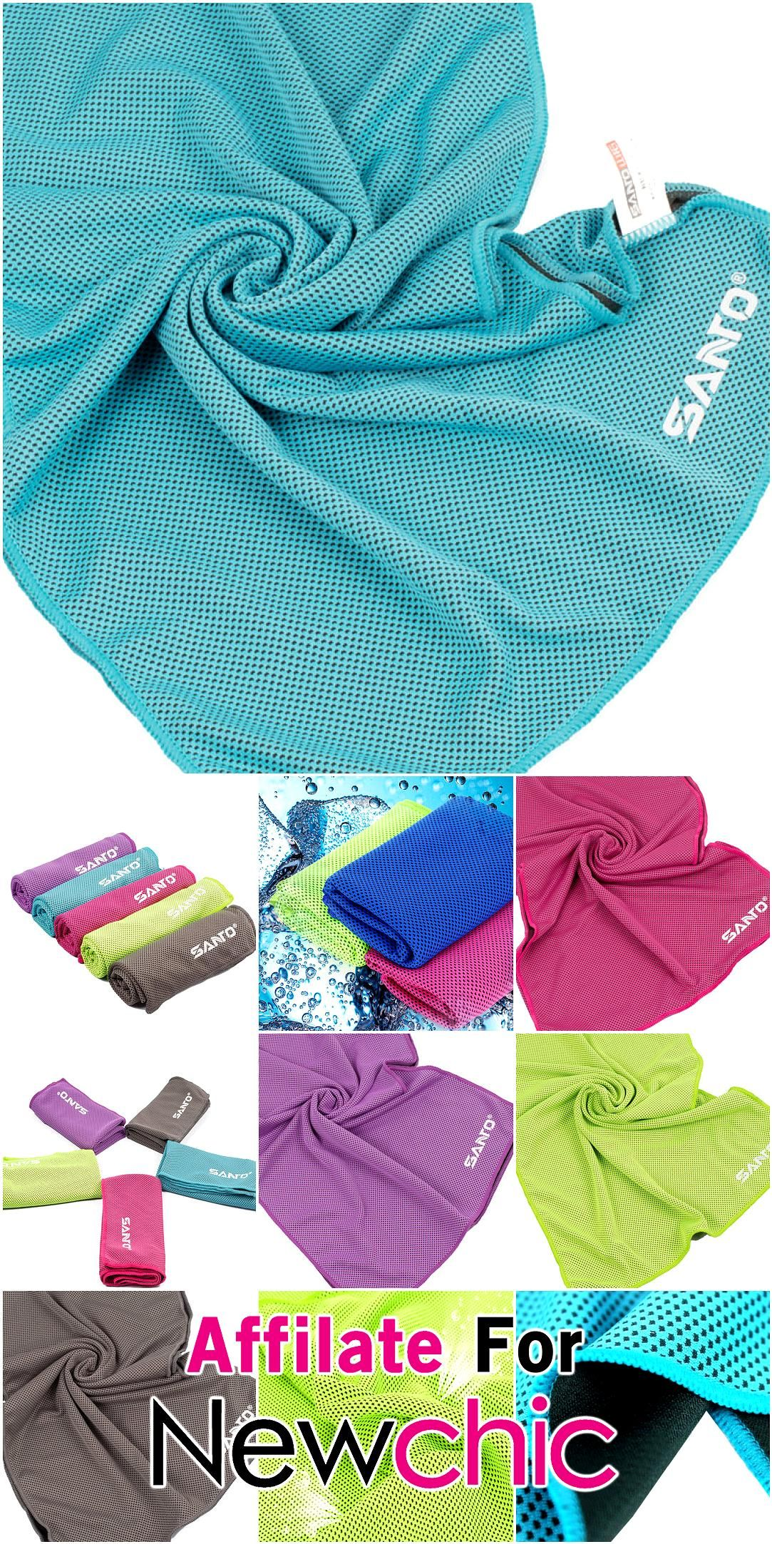 Santo Sports Cooling Towel Summer Sweat Absorbent Towel Quick Dry