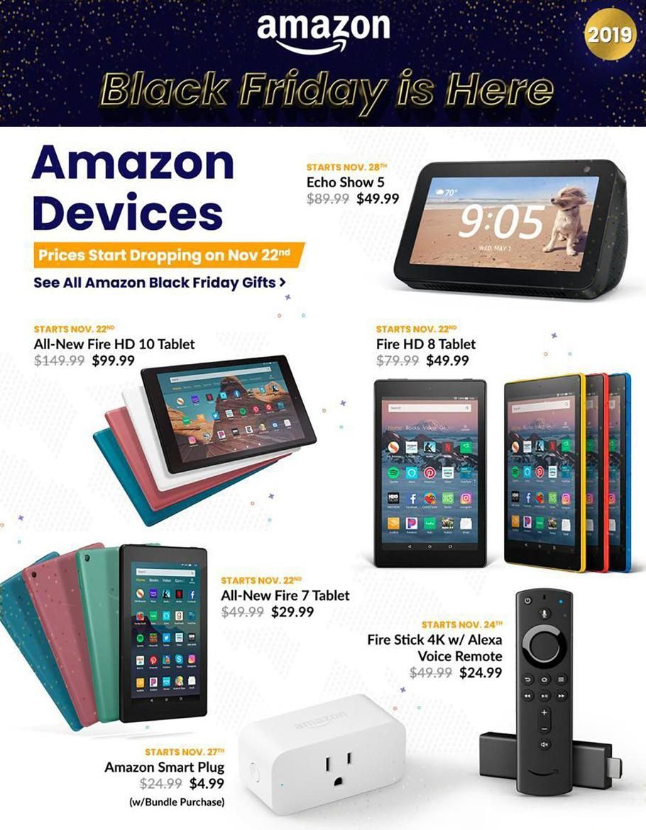 Amazon Black Friday Ad Scan Deals And Sales 2019 Amazon Black Friday Black Friday Ads Black Friday