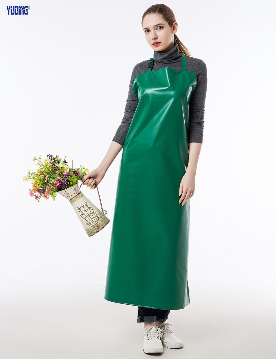 White gloves apron cleaning services - Long Apron Practical Unisex Adult Outsides Working Cleaning Apron High Quality Pu Waterproof Apron White