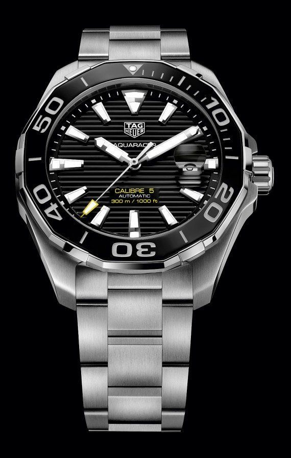 f3ee05debc6 The @tagheuer Aquaracer 300M for men - the stainless steel case measures 43  mm in