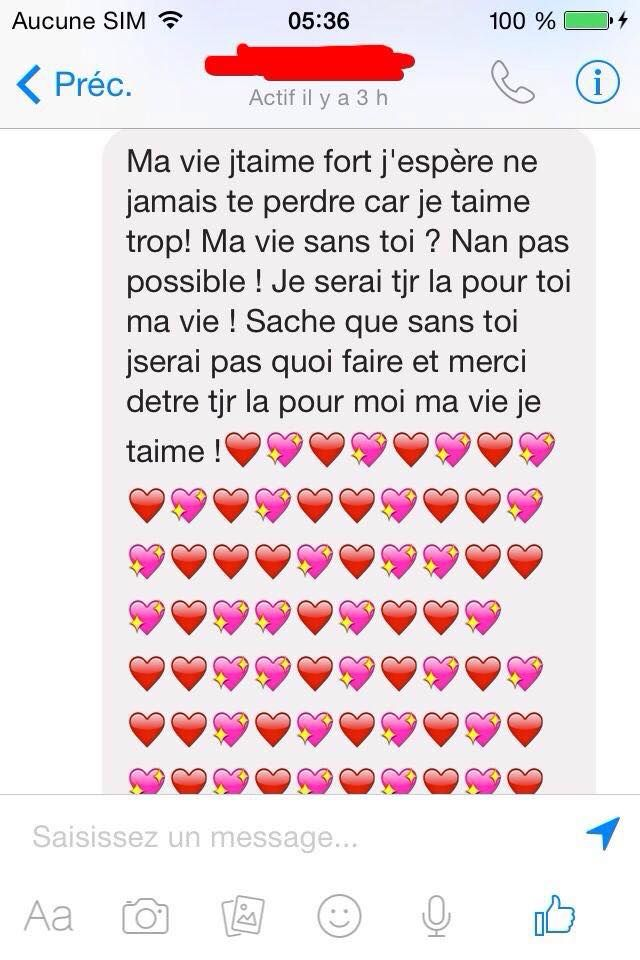 Mot Damour Pour Elle Tu Es Ma Vie Texto Drole Amour