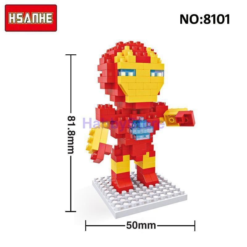 CHROME SPIDERMAN FIGURE MINI Building Blocks PLAY WITH LEGOS USA SELLER NIP
