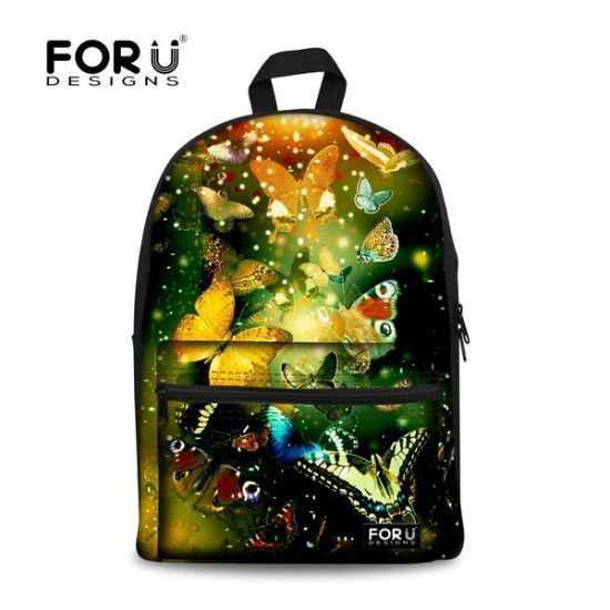 Cheap Bag Garment Buy Quality Printed Retail Bags Directly From China Pvc Suppliers New Colorful Casual Butterfly Print School For Girls