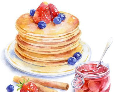 watercolor food for Afisha-Eda