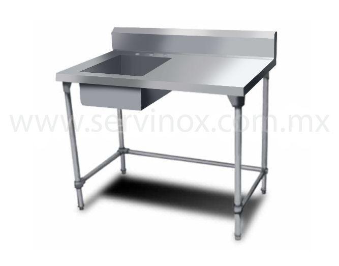Fregadero para bar una tarja caracteristicas fregadero 1 - Mesa trabajo cocina ...