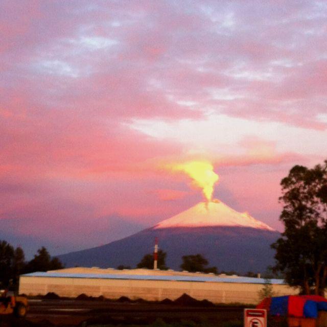 El volcán.