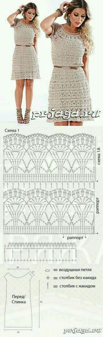 Pin de Chisu Raluca en Crochet dress   Pinterest