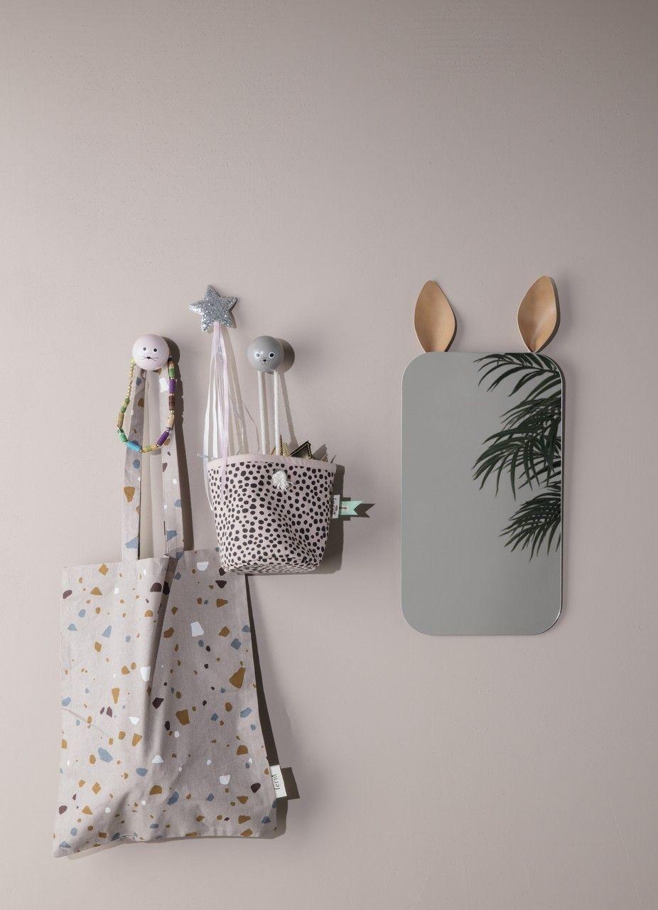 kinder spiegel hase ferm living kleine fabriek. Black Bedroom Furniture Sets. Home Design Ideas