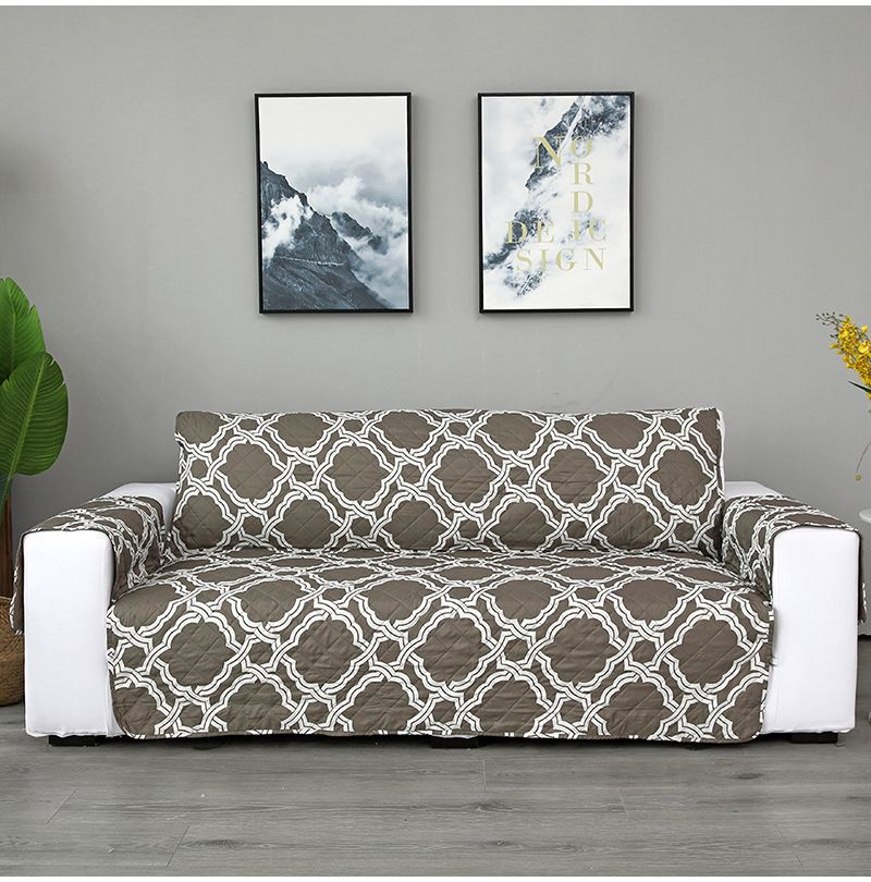 Plaid Printing Sofa Cover Single Two Three Seat In 2020 With Images Sofa Covers Sofa Chair Covers