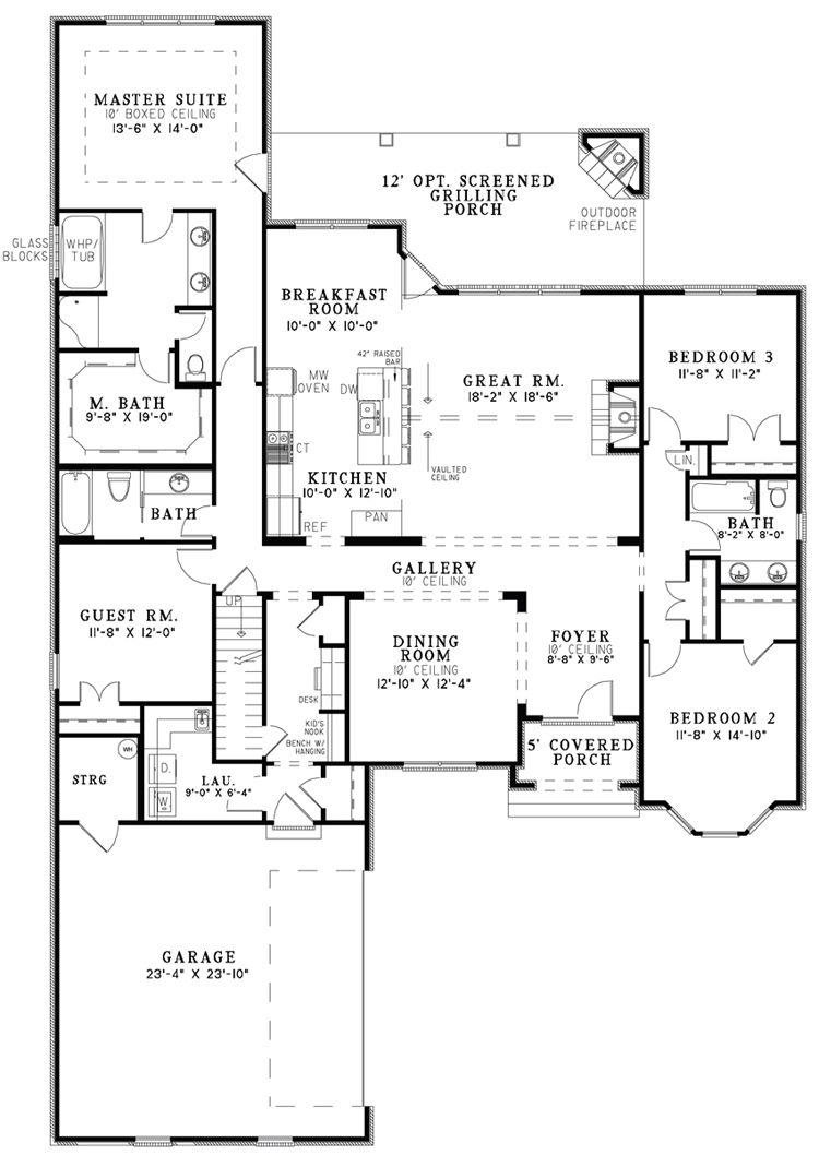 Stunning Open Floor Plan House Plans In White Luxury House Gallery Room Open Floor Plan House Plan Open Floor House Plans Unique House Plans Floor Plan Design