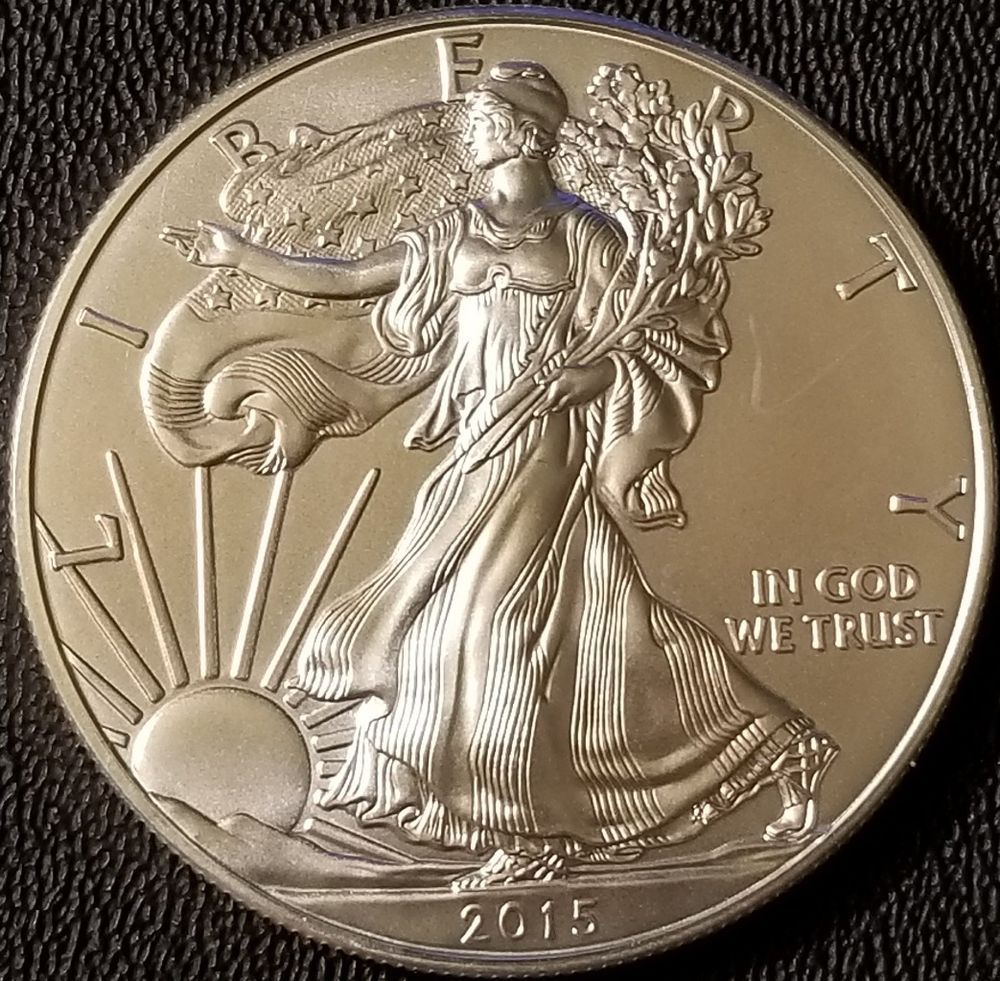 2015 Silver American Eagle 1 Oz Coin 999 Fine Silver Bullion Bu With Images American Silver Eagle Silver Eagles Silver Bullion