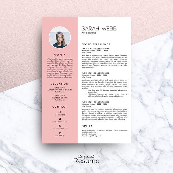 Resume Template (MS Word) Sarah by TheFrenchResume on - resume templates ms word