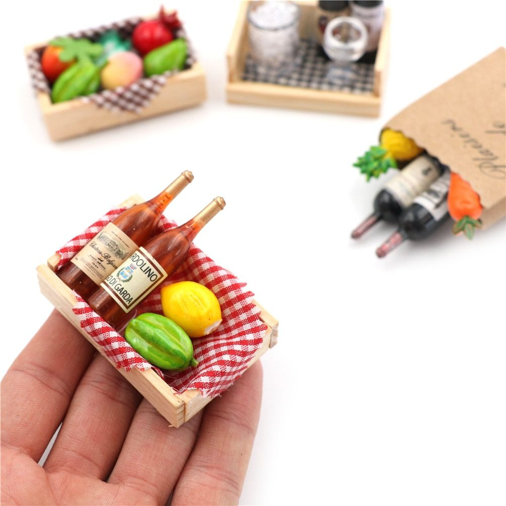 Miniature Food Collectibles for 1//12 Dollhouse Miniatures Kitchen Accessory