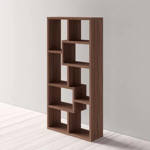 Jezebel Geometric Bookcase In 2020 Bookcase Contemporary Bookcase Modern Bookcase
