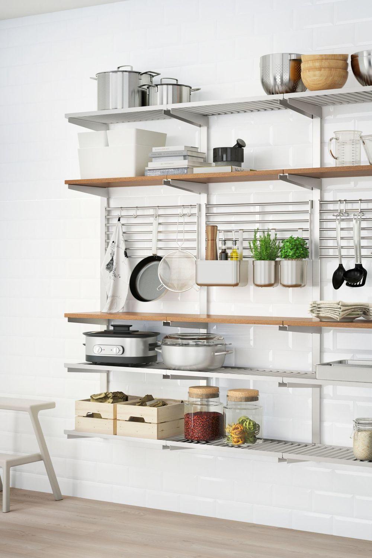 Rangement cuisine sans placard : astuces et idées pratiques | Petite cuisine ikea, Remodelage ...