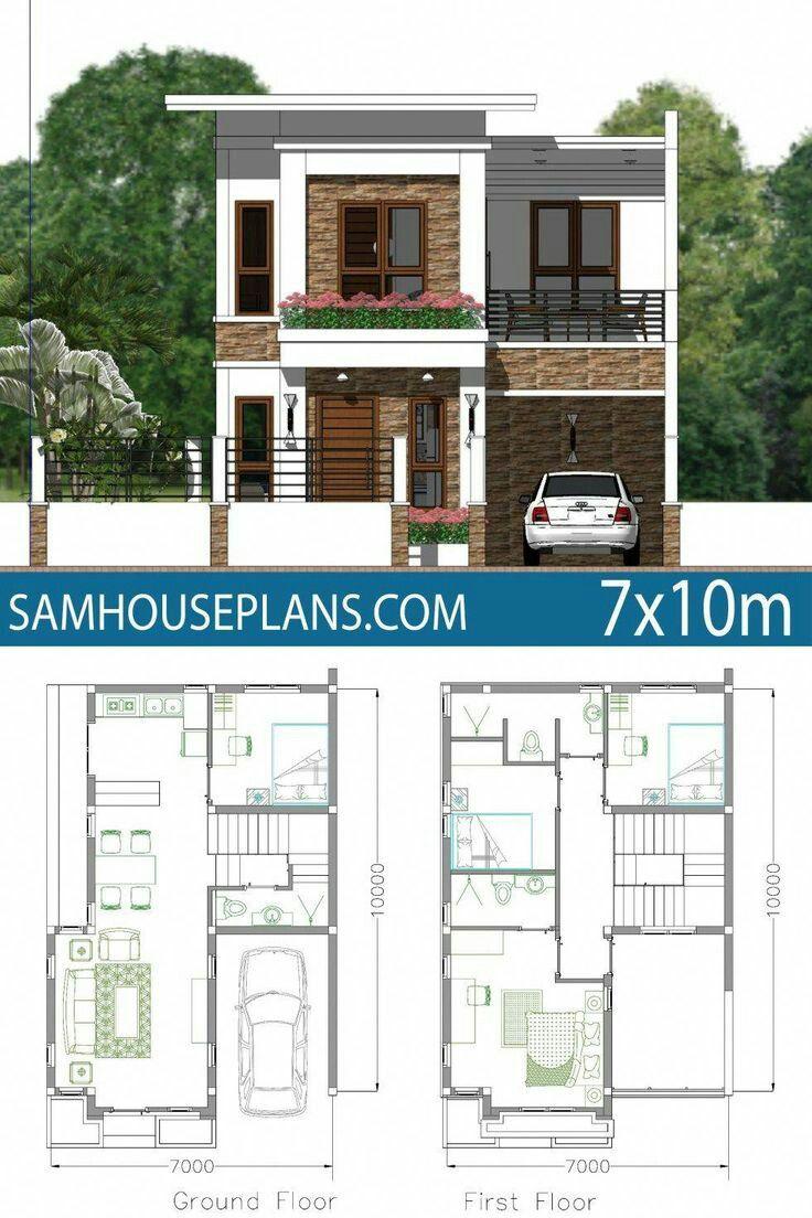 House Front Design En 2020 Planos De Casas Medidas Planos De Casas Pequenas Modernas Planos De Casas 10x20