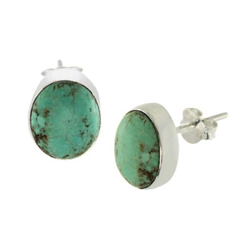 genuine m stud turquoise poshmark listing jewelry earrings white gold