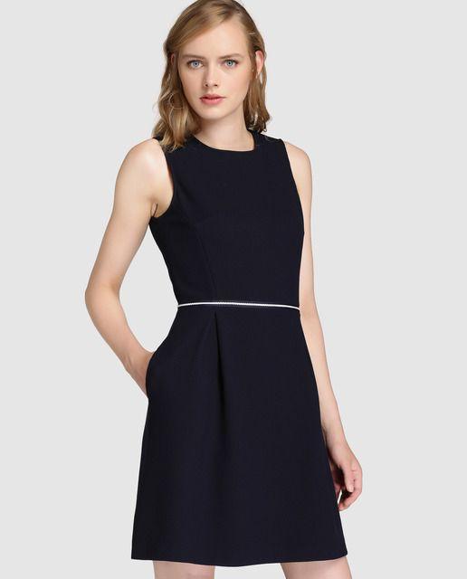 8ca012403f Vestido corto de mujer Tommy Hilfiger en azul marino