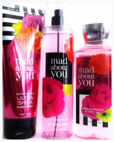 Bath Amp Body Works Mad About You Gift Set Of 3 Body Cream Mist