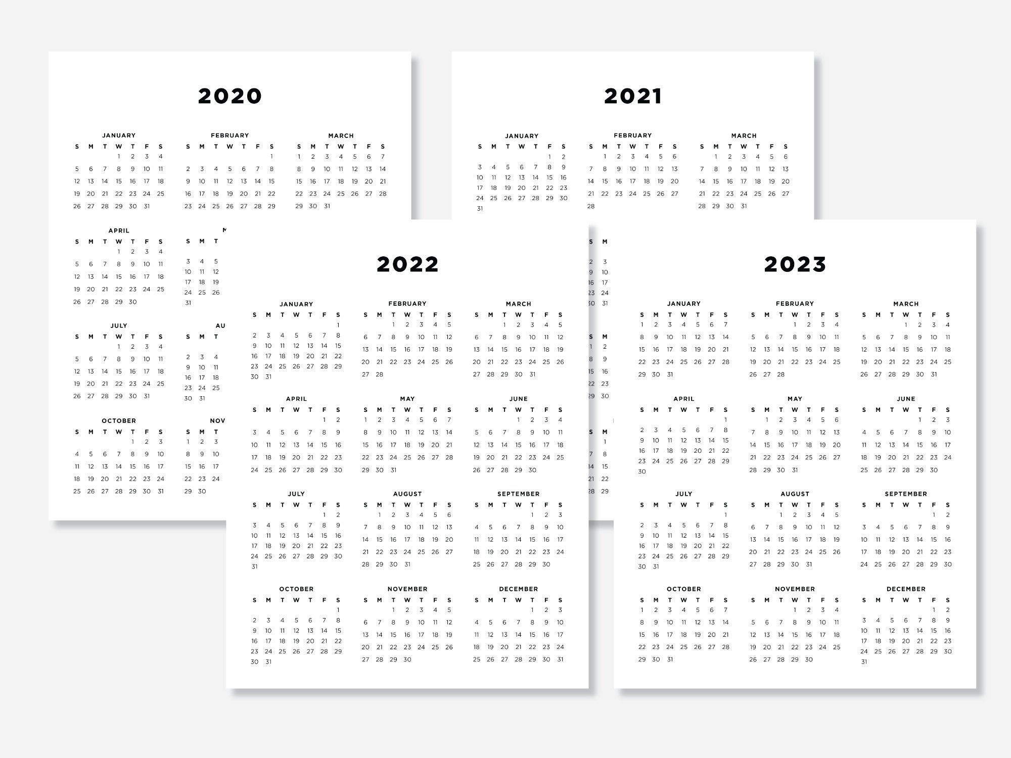 8 5x11 Calendars 2020 2021 2022 2023 Calendar Planners Etsy In 2020 Scripture Art Print Calendar Printables Digital Calendar