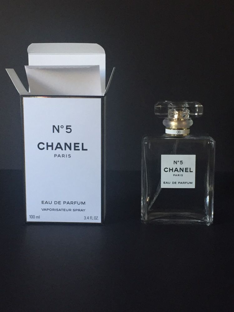 Chanel No 5 Eau De Parfum Empty Spray Bottle And Box 100 Ml 34 Oz