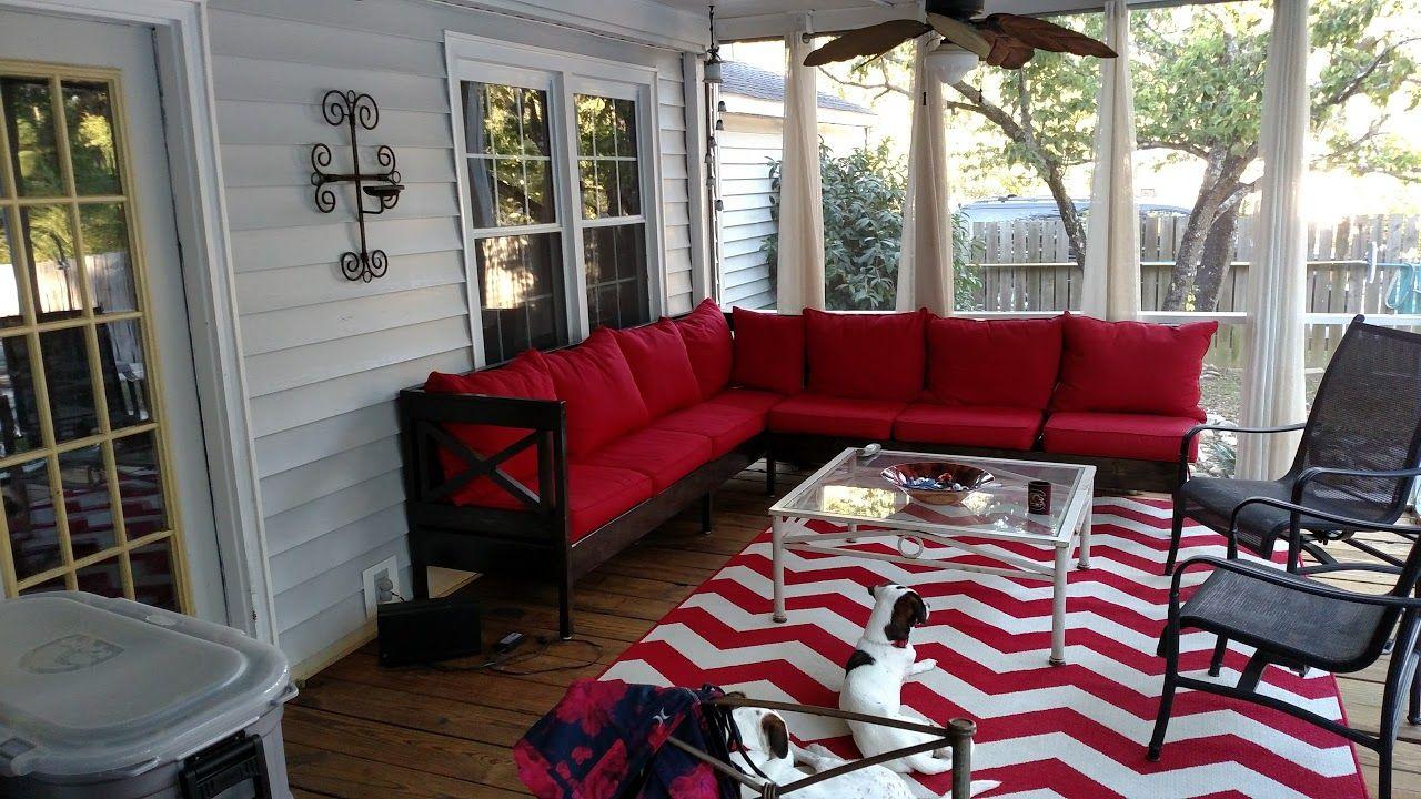 diy outdoor sofa with angled back