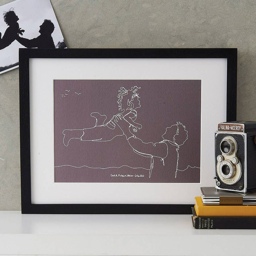 continuous line drawing portrait print by mimi & mae | notonthehighstreet.com