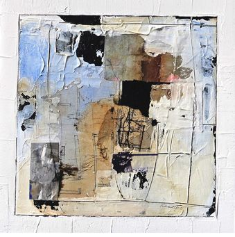 """Core of Calm #3,  15x15""""   mixed media by Katherine Chang Liu"""
