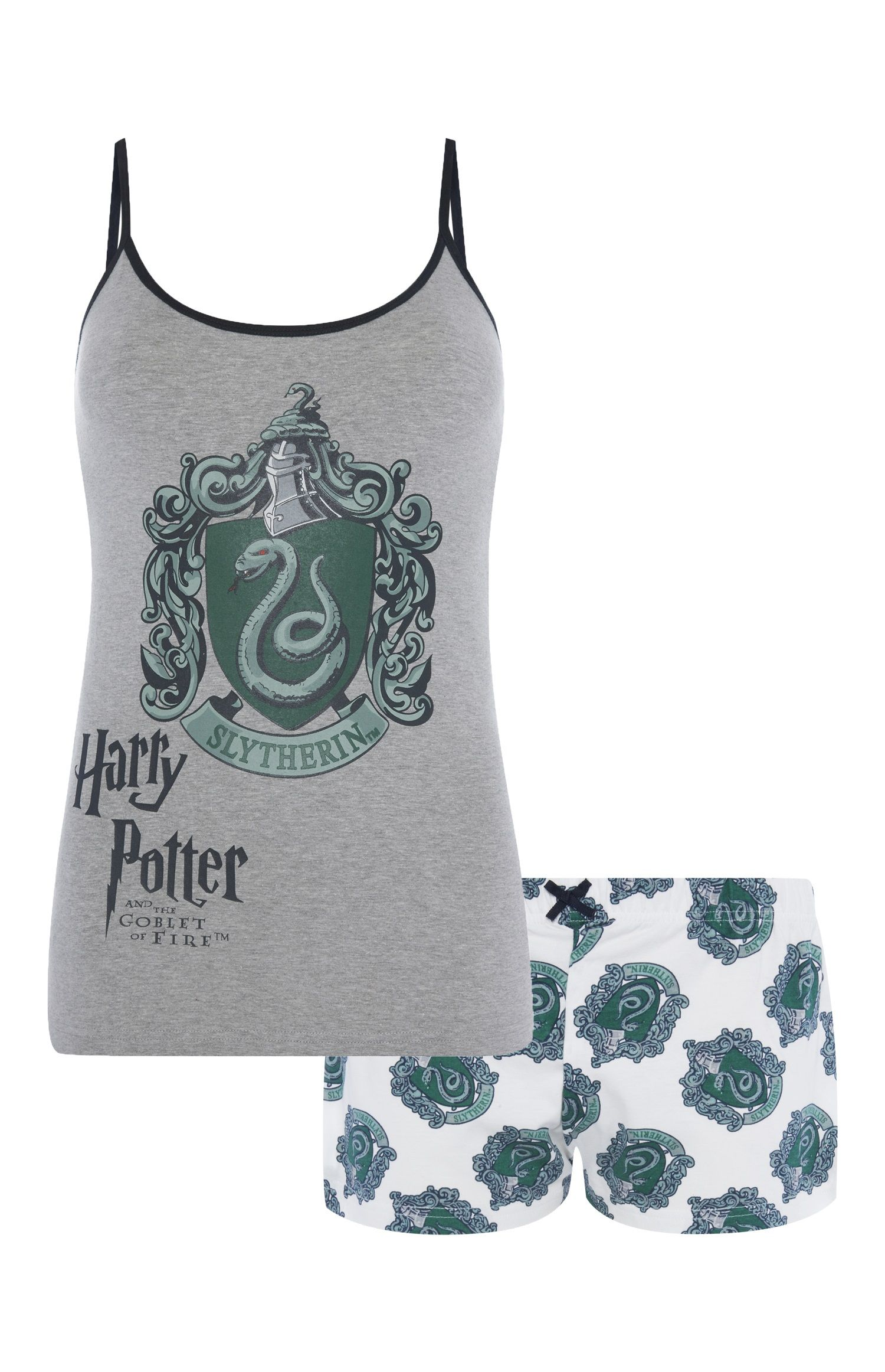 Harry Potter Pyjama Set All House Camiset Vest Short Nightwear Womens Primark