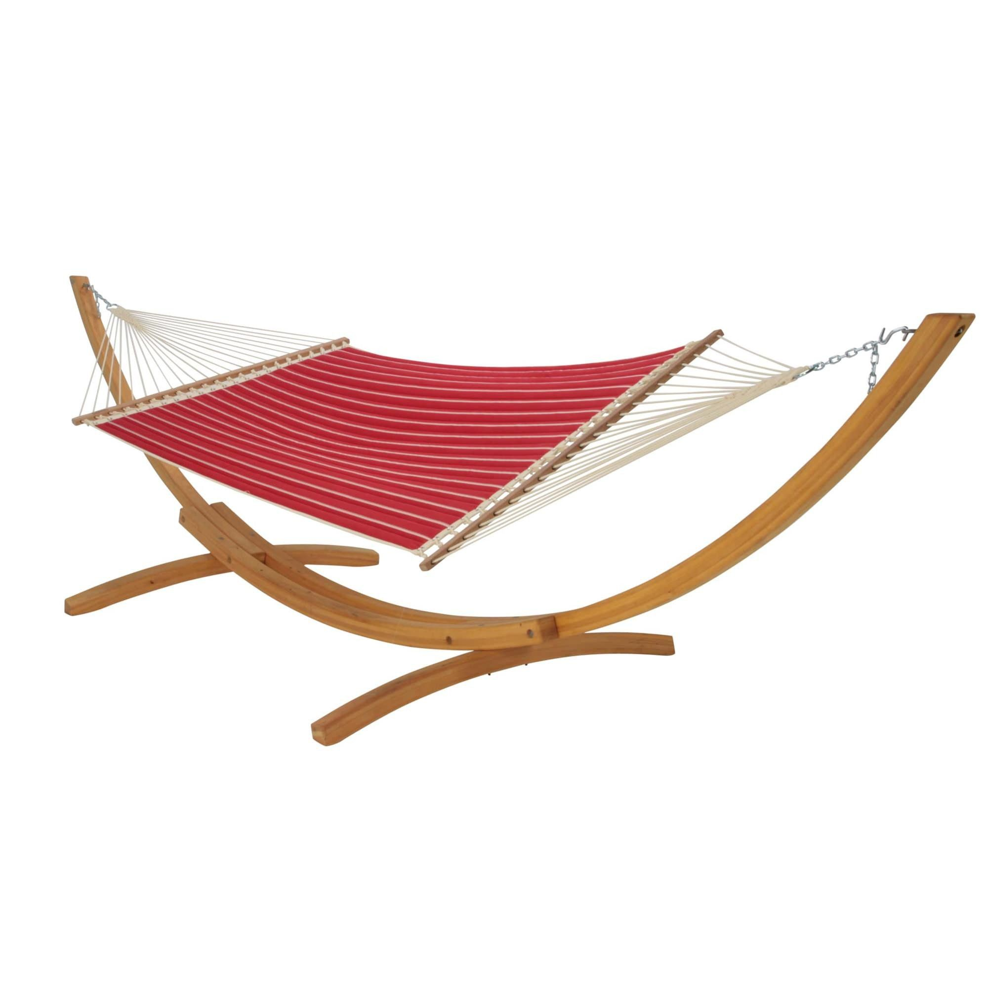 Hatteras hammocks large quilted hammock classic red stripe
