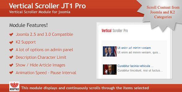 Cool Vertical Scroller Jt Pro Module For Joomla Joomla