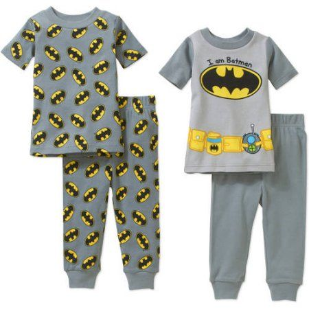 d978bfd1e5e7 Batman Newborn Baby Boy Cotton Tight-Fit Pajamas 4-Piece Set