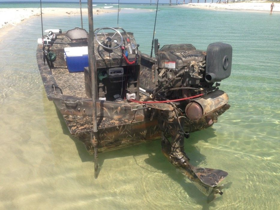 gator tail pontoon and shallow water boats pro drive outboard