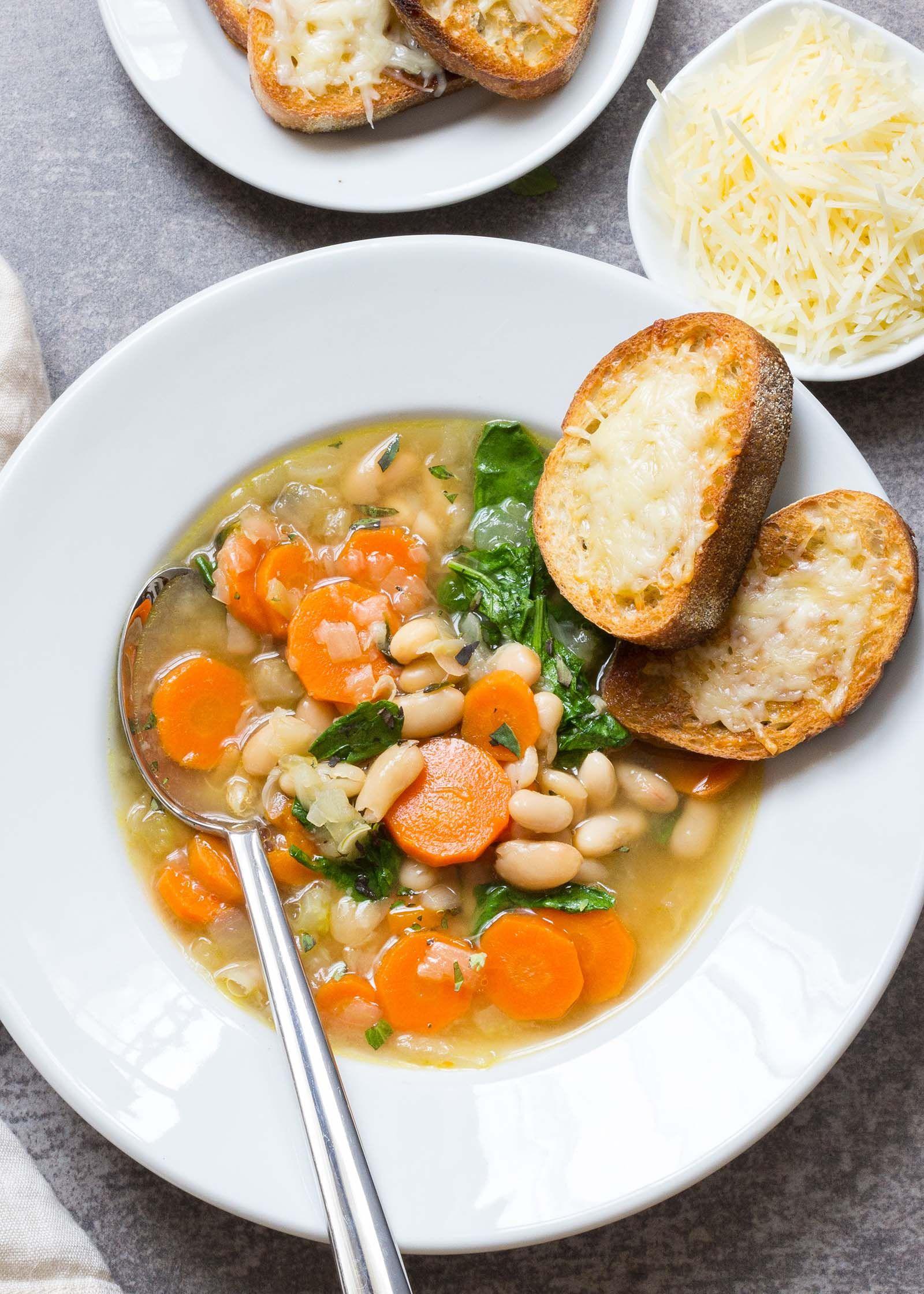 Easy Tuscan Bean Soup Comida vegana Recetas fciles y Recetas de